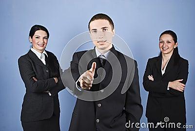 Successful business people team