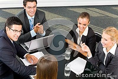 Successful business-team