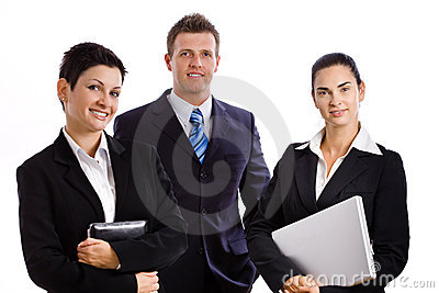 Successful business team isolated