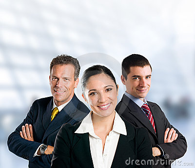 Successful business team smiling in office