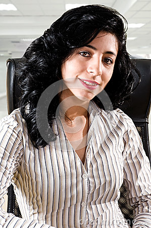 Successful business woman at office