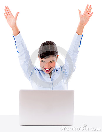 Successful business woman online