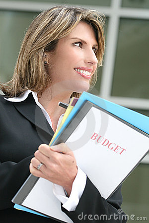 Successful Business Woman Planning Budget
