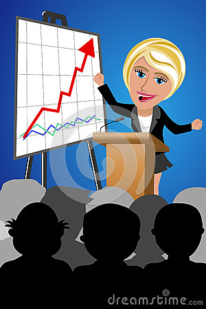 Free Successful Business Woman Speaker Conference Royalty Free Stock Images - 53399329