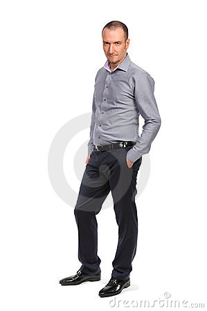 Successful businessman, full length portrait