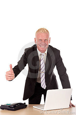 Successful Businessman laptop