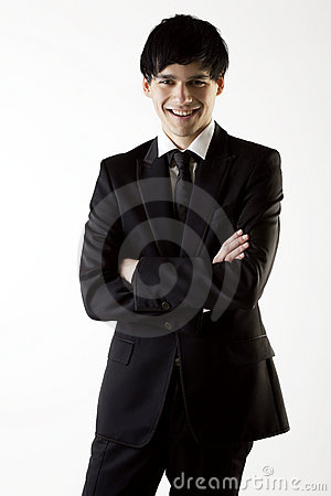 Successful businessman, smiling