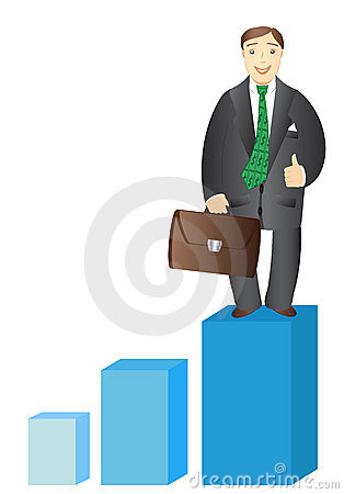 Successful businessman with stock portfolio
