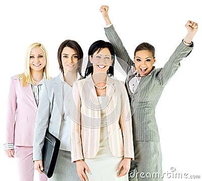 Successful businesswomen team