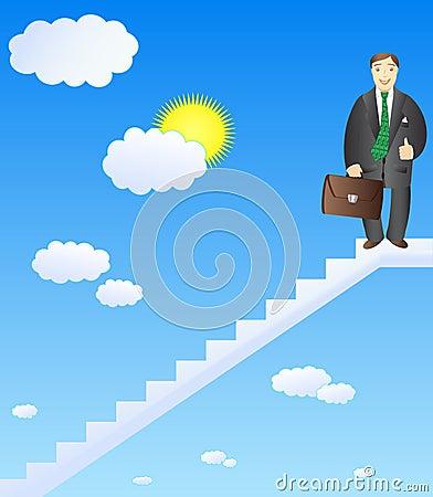 Successful career businessman