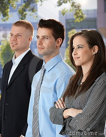 Successful and confident businesspeople