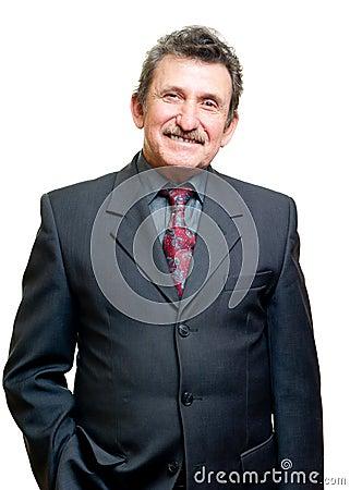 Successful elder businessman