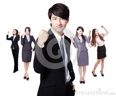 Successful excited Business man