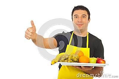 Successful fruiterer worker