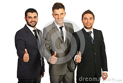 Successful group of business men