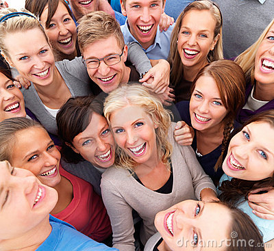 Successful group of  people smiling