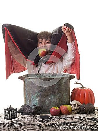 Successful Halloween Apple Bobbing Game