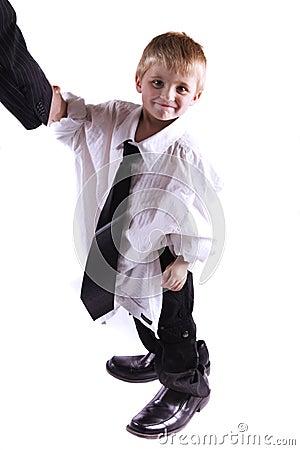 Successful Little Business Man