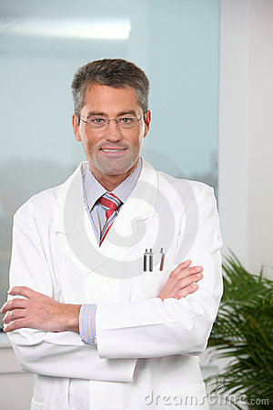 Successful male doctor