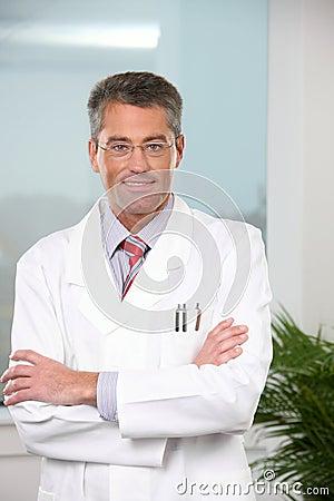 Successful male doctor