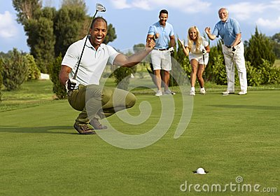 Successful putt