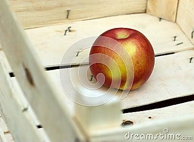 Successful sale of fruit - apple in crate
