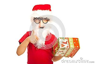 Successful Santa kid