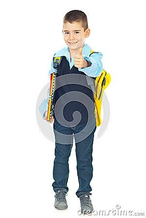 Successful schoolboy