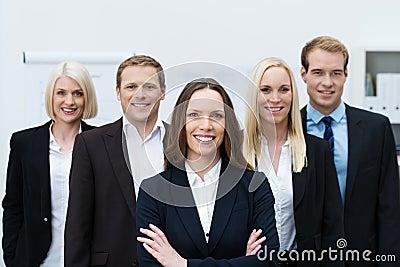 Successful self-assured business team