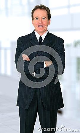 Successful Senior Businessman Smiling