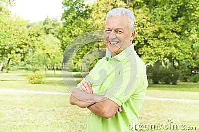 Successful senior man
