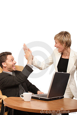Free Successful Team - Business Man And Woman Royalty Free Stock Photo - 266845