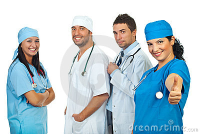 Successful team of doctors
