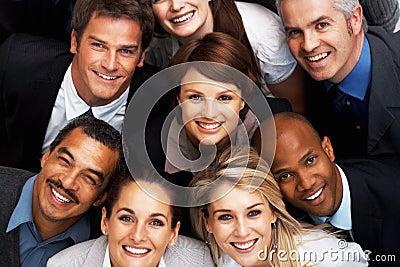 Successful team of executives