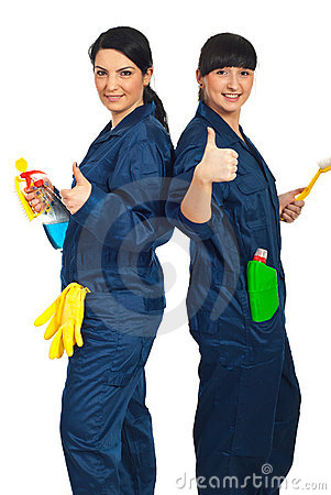 Free Successful Team Of Cleaning Women Royalty Free Stock Photo - 19108455