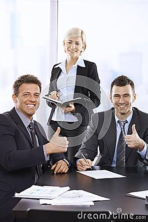 Successful team portrait