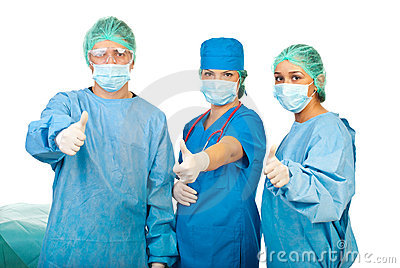 Successful team of surgeons