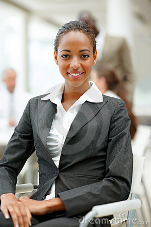 A successful young African American business woman