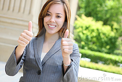 Successful young businesswoman