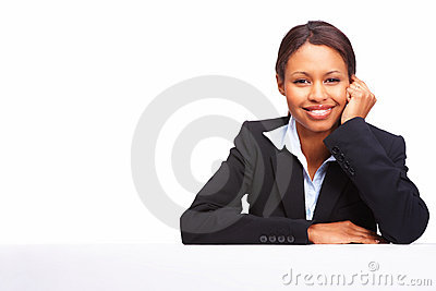 Successful young formal woman smiling