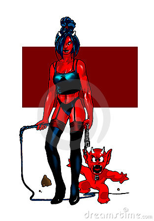 Free Succubus And Little Friend Stock Images - 624824