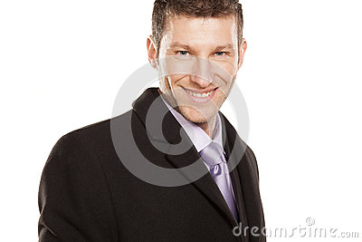 Sucefull smiling businessman