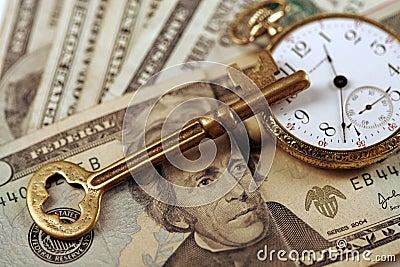 Sucesso de negócio - tempo e gerência de dinheiro