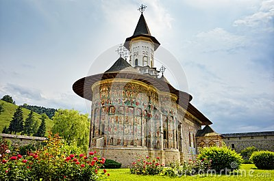 Sucevita orthodox Romanian monastery landmark