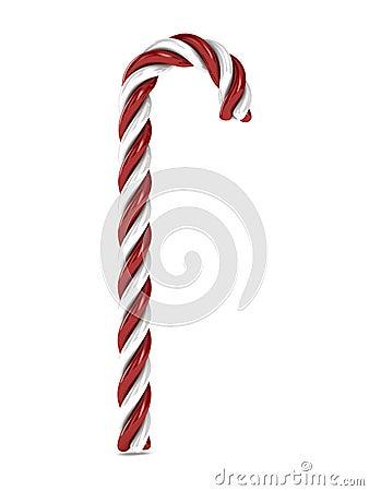 Sucrerie de Noël sur le fond blanc
