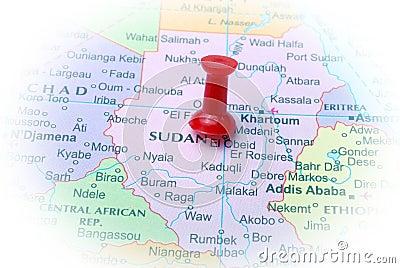 Sudan  in map