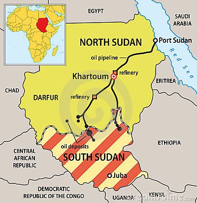 Sudan political map