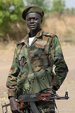 Sudanese soldier Editorial Stock Image