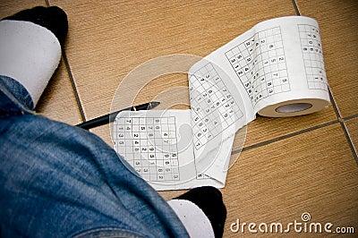 Sudoku boredom in toilet