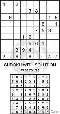 Sudoku makkelijk met oplossing